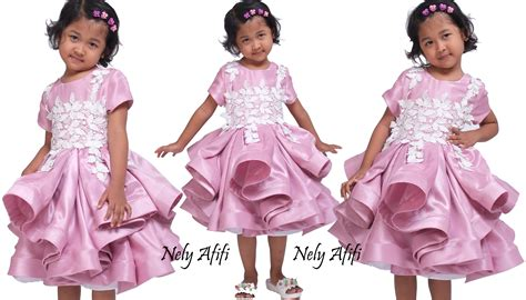 Dress Anak Prada Lace gaun pesta anak lace prada