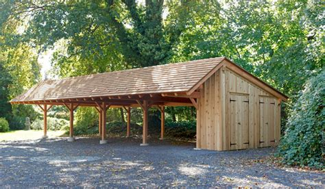 Carport And Shed by Timber Frame Carport In Wynncote Pa Traditional
