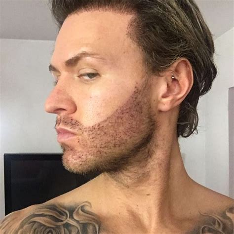 geordie shore s kyle christie gets a 12 hour beard