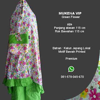 Mukena Katun Anak Dan Dewasa Green Valley Harga Per Pcs mukena vip green flower grosir pesan mukena katun jepang santung bordir batik bali murah anak