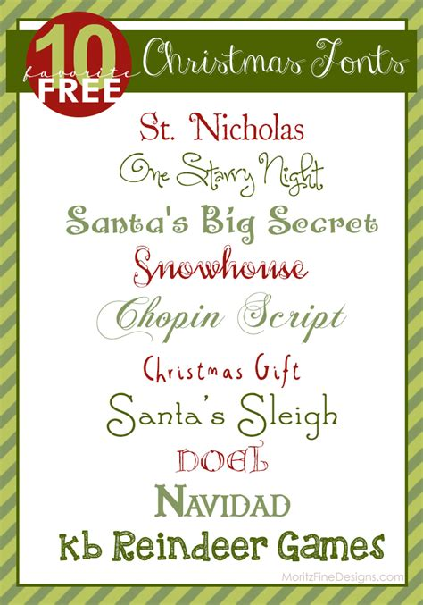 top 10 best christmas fonts free font friday