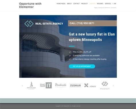 personal landing page template for elementor free free elementor templates mikegriffin me