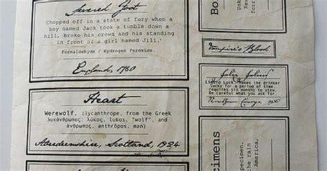 printable halloween specimen jar labels aged specimen jar label diy tutorial on how to make them