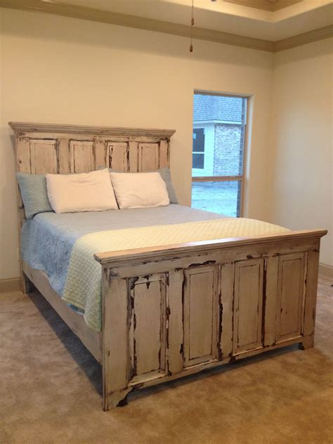 headboards from old doors distressed headboard and footboard made from two old doors