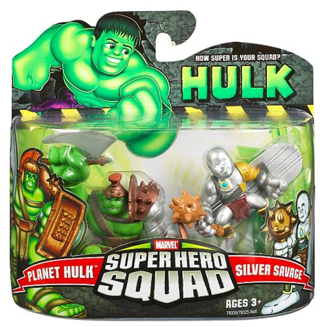 film marvel super hero squad planet hulk silver savage super hero squad action figures