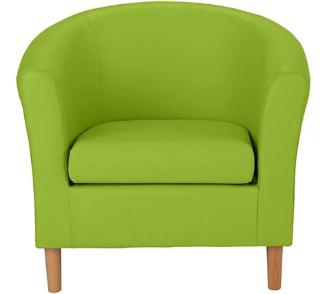 Argos Armchairs by Buy Colourmatch Leather Effect Tub Chair Apple Green At