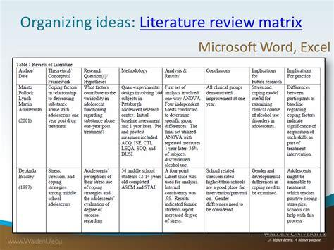 best photos of nursing literature review template literature review matrix template