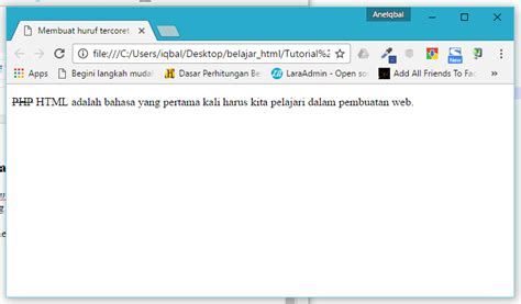 membuat text html tutorial formating text html cara membuat huruf tercoret