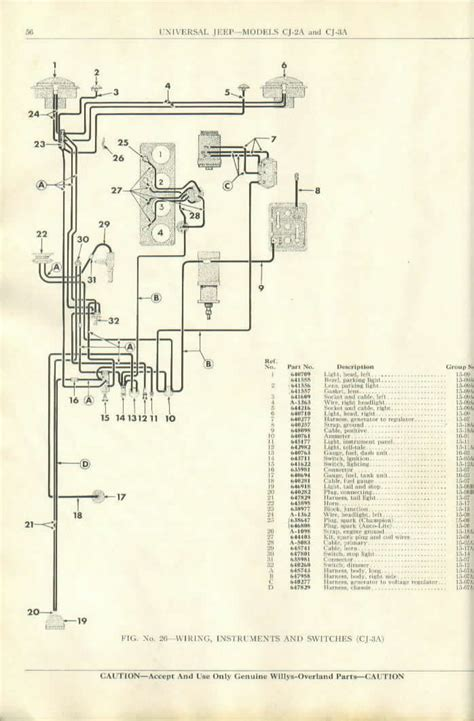 1950 willys truck wiring diagram 1950 free engine image