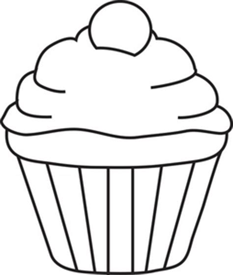cupcake template cupcake outline clip clipart best