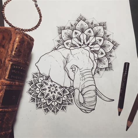 elephant mandala tattoo one o nine photo tattoos