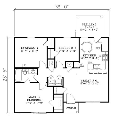 floor plans for small houses manor small ranch home plan 055d 0013 house plans and more