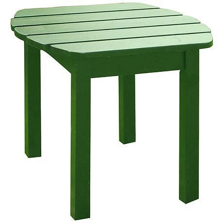 Green Accent Table Green Finish Solid Wood Accent Table