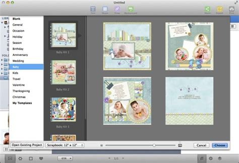 how to make a digital baby scrapbook album for your baby