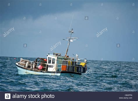 lobster fishing boat images small lobster fishing boat with creels aboard off the west