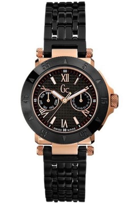 Guess Collection X73001m1s Black Rosegold guess collection gc diver chic gold 45502l1