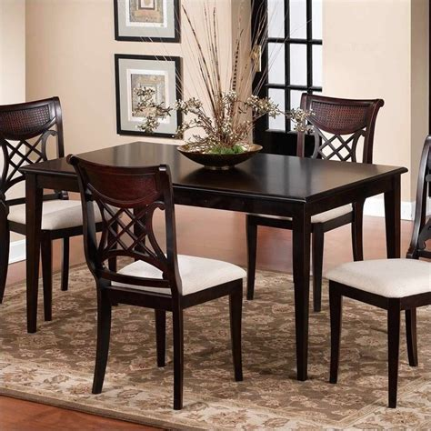 hillsdale glenmary formal dining table in distressed