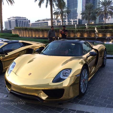 gold porsche 918 chrome gold porsche 918 spyder madwhips