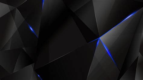 blue and black abstract wallpapers blue abstract polygons black bg by