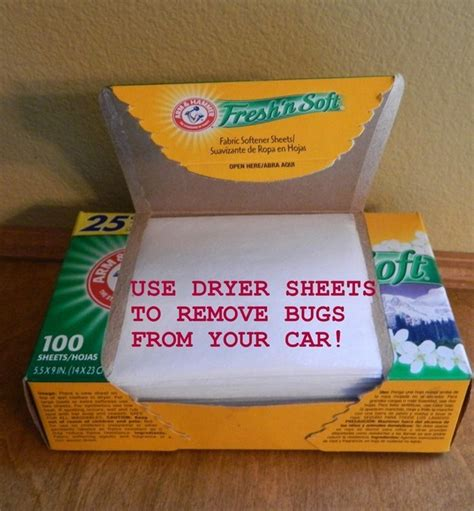 dryer sheets for bed bugs 23 ways to make your car cleaner than it s ever been