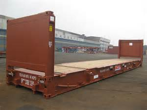 shpi container 40ft end wall collapsible flatrack container