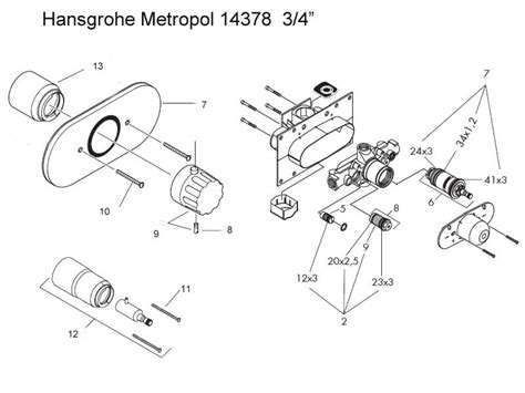 Hansgrohe Shower Parts by Hansgrohe Metropol 3 4 Quot Shower Valve Shower Spares And