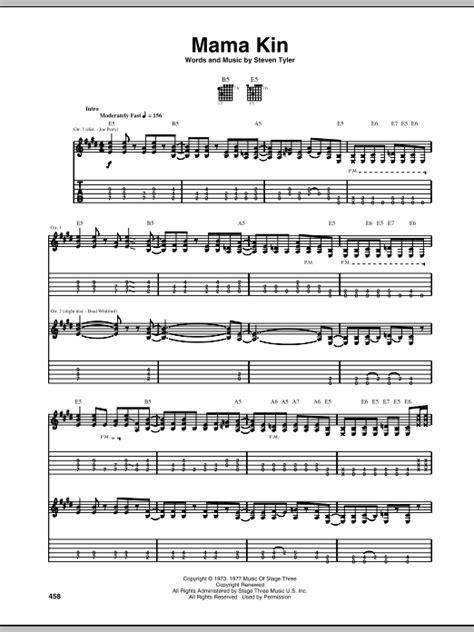rag doll guitar tab aerosmith kin guitar tab sheetmusicdirect