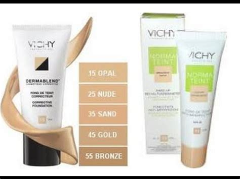 vichy foundations overview amp dermablend demo youtube
