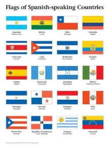 hispanic colors las banderas of the 19 speaking countries of