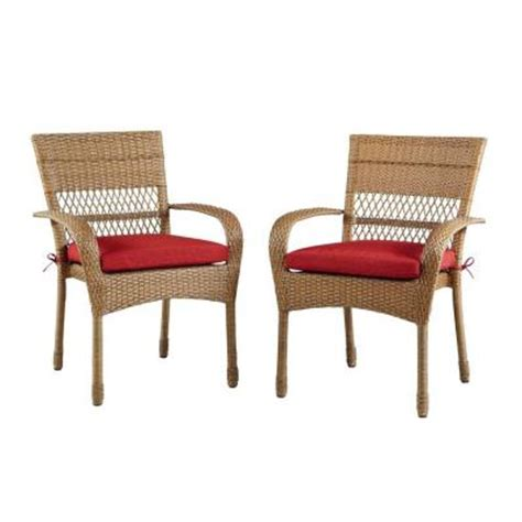 Martha Stewart Patio Chairs Martha Stewart Living Charlottetown All Weather Wicker Patio Dining Chair With Quarry