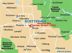 scottsdale maps and orientation scottsdale arizona az usa