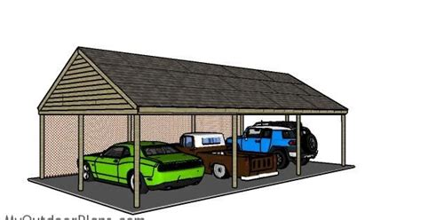 carport plans with storage carport plans for 3 cars how to build a carport
