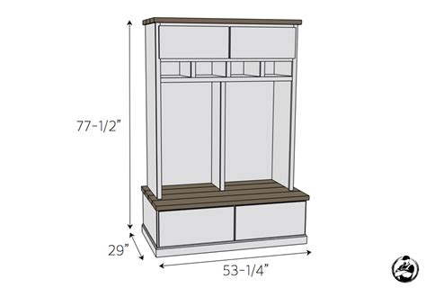 mudroom size mudroom lockers with bench free diy plans