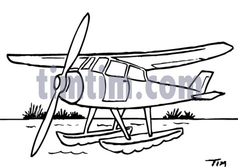 water plane coloring page free drawing of a sea plane bw2 from the category trains