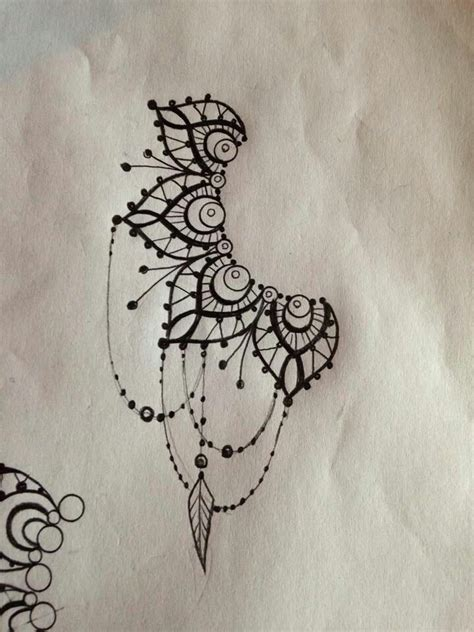 henna tattoo designs behind ear mandala images designs