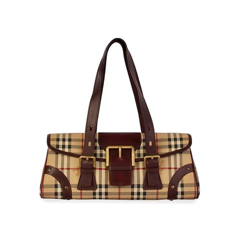 Resort Burberry Check Satchel by Burberry Haymarket Check Buckle Satchel Luxity