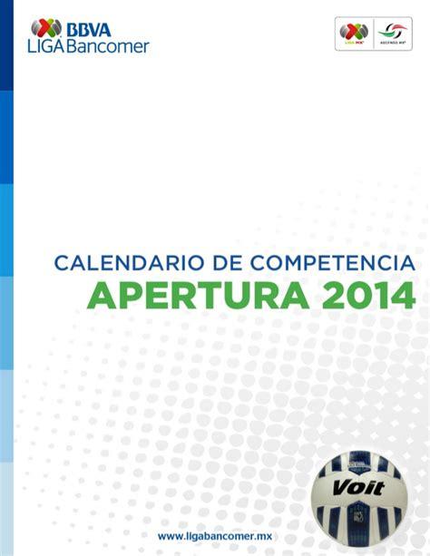 calendario liga mx apertura 2014 torneo de liga apertura 2014 mexico