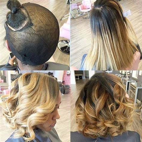 hair weave for feathered ombre hairstyle for african american only 1001 best images about sew in hairstyles on pinterest