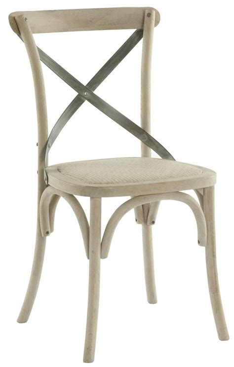pair kasson country cafe wood metal dining chair