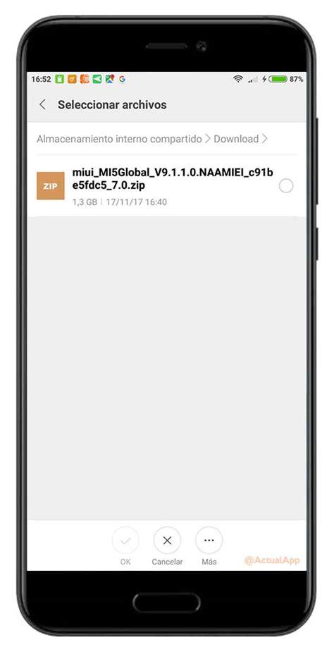 tutorial actualizar xiaomi mi3 c 243 mo actualizar tu xiaomi manualmente a la 250 ltima versi 243 n