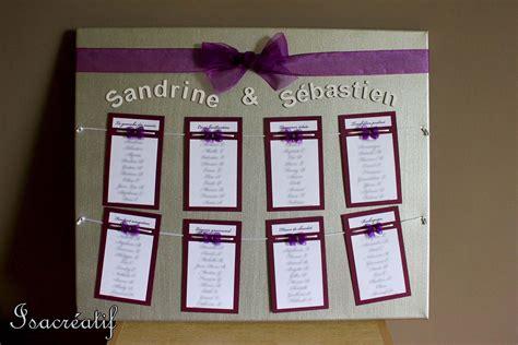plan de table pour mariage violet et argent mariage
