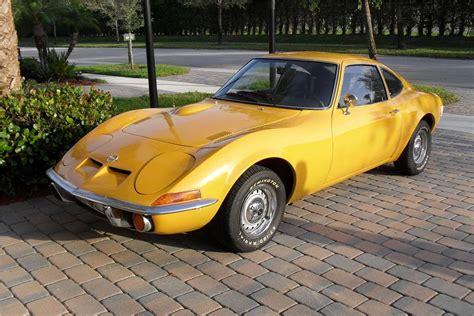 vintage opel cars 1972 opel gt 2 door coupe 151363