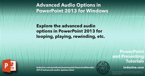 format audio ppt format tab for audio clips in powerpoint 2013 for windows