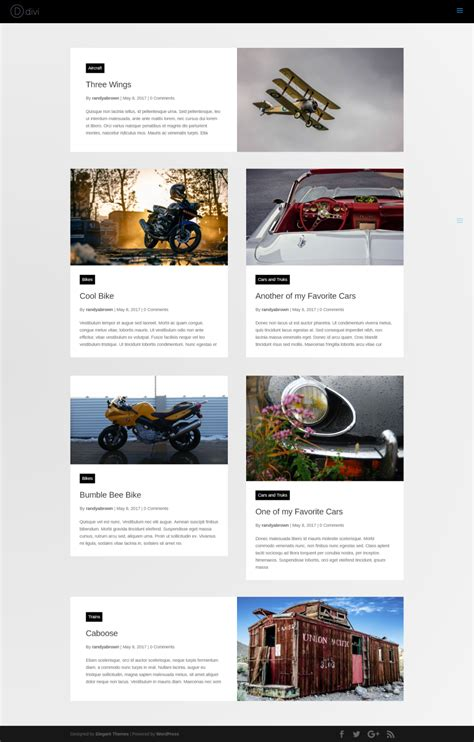 unique layout magazine divi plugin highlight divi blog extras elegant themes blog
