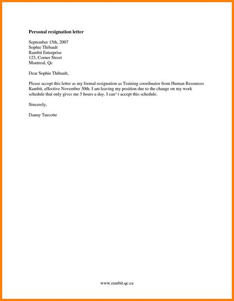 10 resignation letter sle simple and joblettered