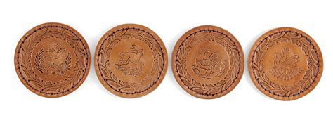 Embossed Leather Coasters by Gorky