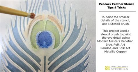 stencil tutorials learn how to learn how to stencil the peacock feather pattern stencil