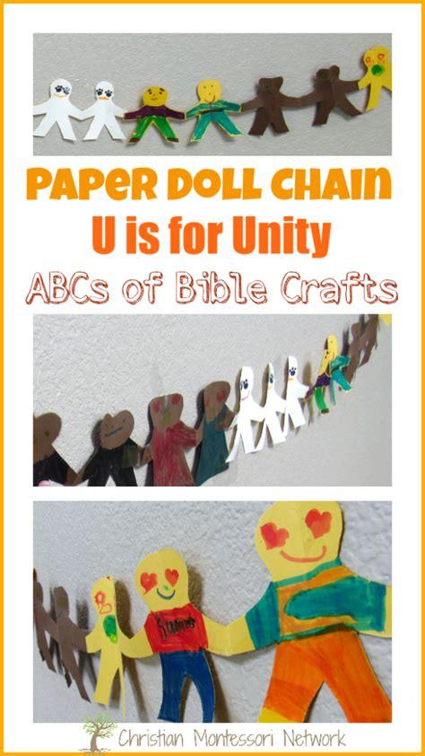 Paper Doll Craft Ideas - paper doll chain unity bible craft christian montessori