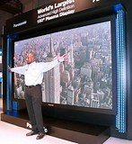 Image result for largest flat screen tv. Size: 147 x 160. Source: www.pinterest.com