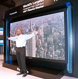 Image result for largest flat screen tv. Size: 157 x 160. Source: www.pinterest.com